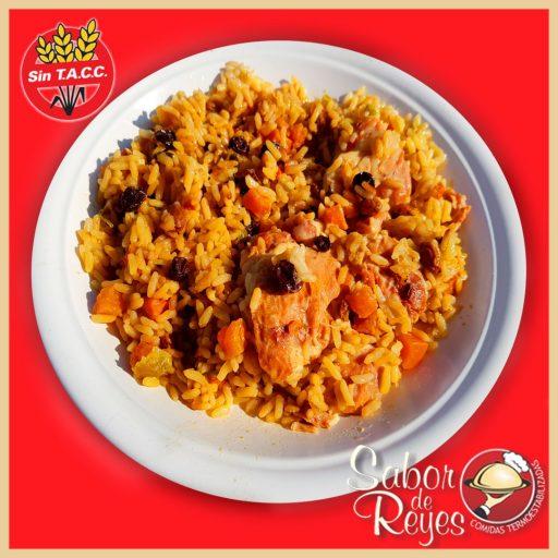 Pollo con arroz a la griega libre de gluten